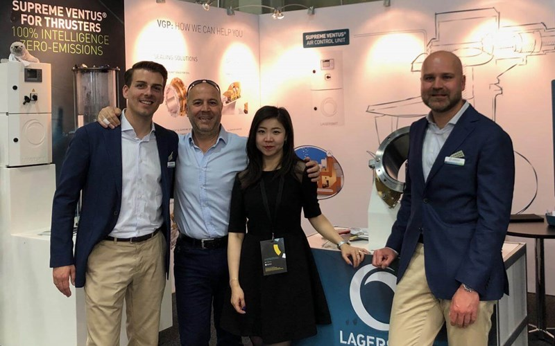 Exposhipping Stand Orkun and Lagersmit account managers