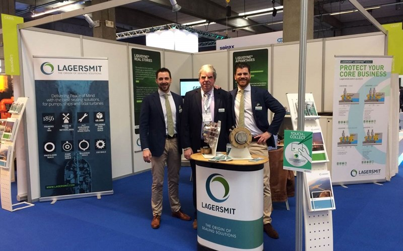 Jan Willem Bongers, Michel Beyens and Eric de Paauw at Aquavakbeurs