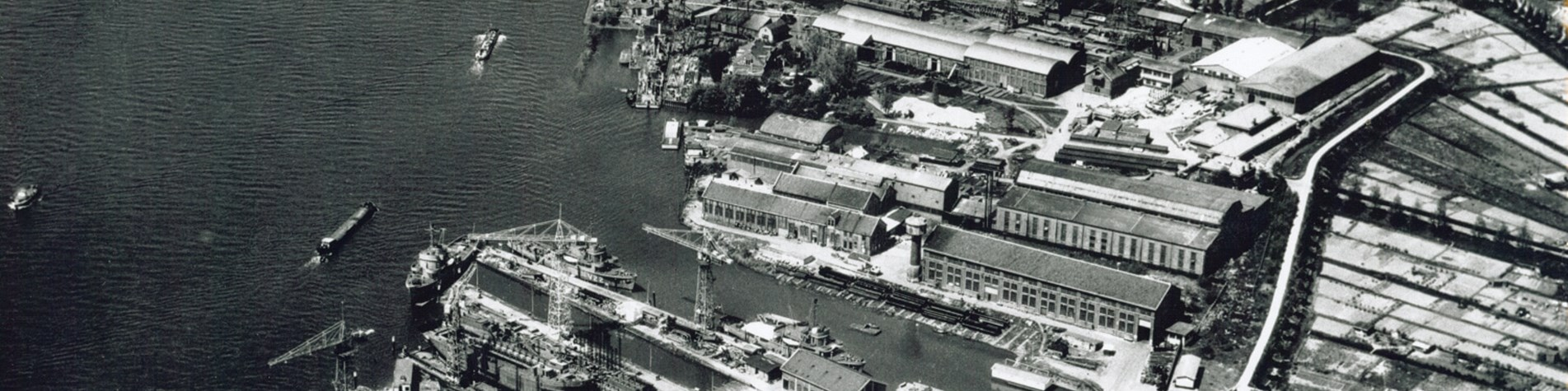 Old shipyard in Lagersmit history