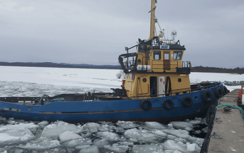 Retrofix Max Idea Marine vessel in ice water