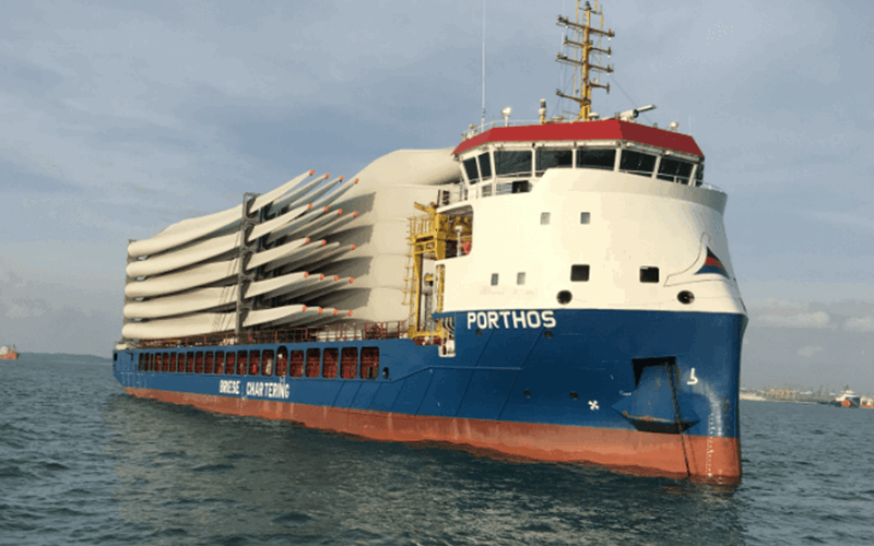 Porthos vessel at sea from Briese Shipping BV